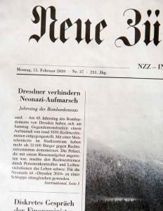 NZZ zu Dresden